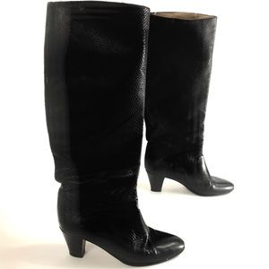 Vintage Saks 5th Ave Knee High Boots Leather sz 7